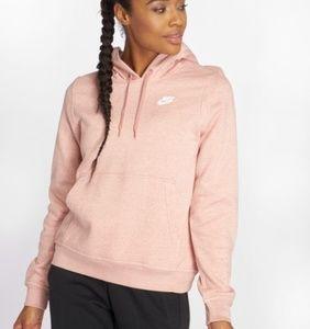 Nike Women pink mottled Women Hoodie Sportswear L